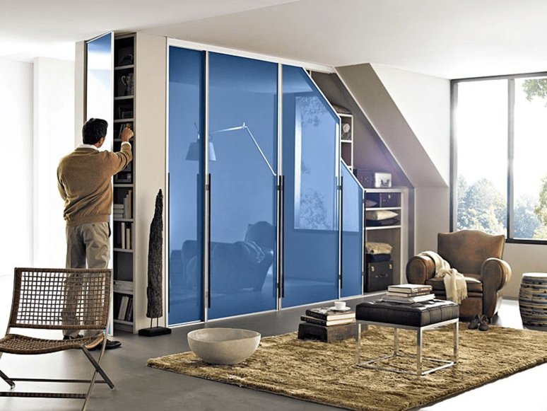 Sloped Wardrobe - commercial interior designers in bangalore entertainment for kids interiors in electronic city bangalore