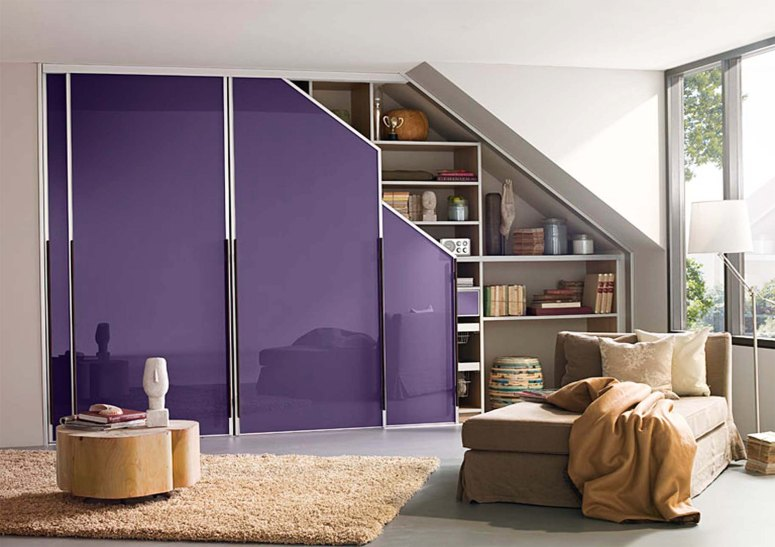 Sloped Wardrobe - commercial interior designershouse in electronic city entertainment for kids furniture stores best wardrobes bangalore