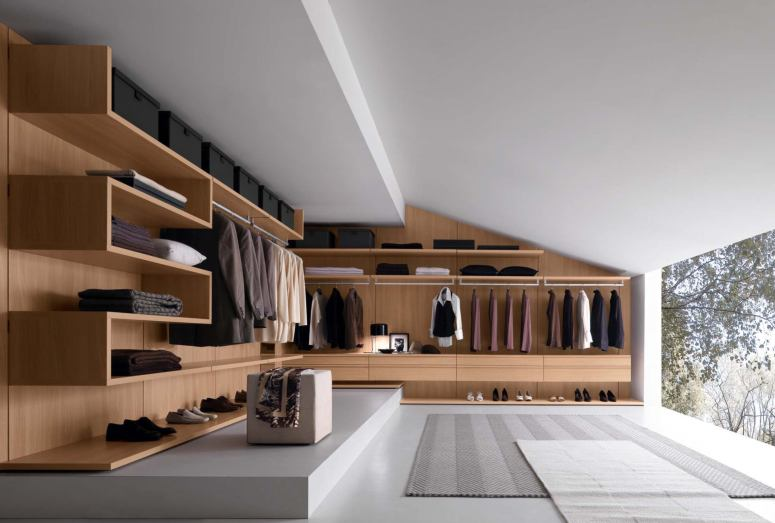 Sloped Wardrobe - flats for sales in electronic city bangalore PCR Garden Mall Electronic City one and only interiors in electronic city bangalore