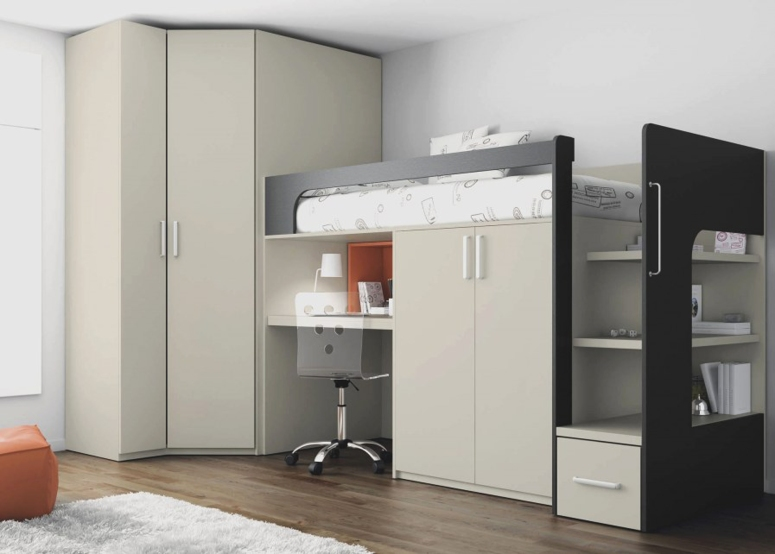 Wardrobe with a Mezzanine Loft - home interior design home interiors in electronic city bangalore house interior design best interior in koramangala bangalore white field interiors bangalore
