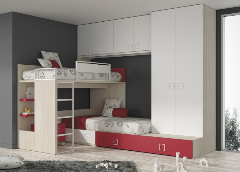 Wardrobe with a Mezzanine Loft - house interior design interior interior designers in electronic city flat interiors best interiors in hosur road best interiors in btm layout bangalore
