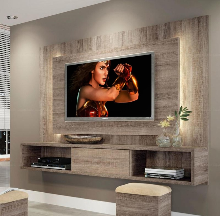 A floating console - modern built in tv wall unit designs tv wall design wood tv feature wall design ideas electronic city bangalore