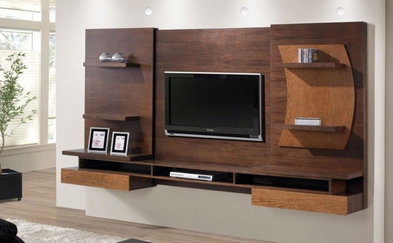 A floating console - modern tv unit design ideas tv cabinet design modern simple tv wall design electronic city bangalore