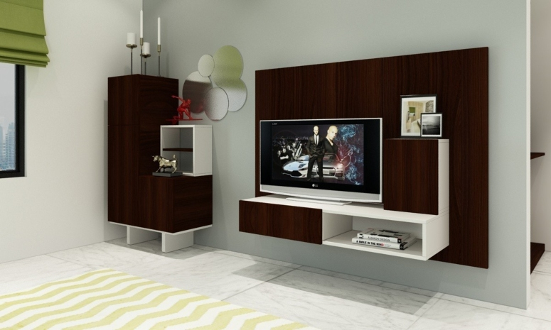 A floating console - tv wall design wood tv feature wall design ideas tv stand designs electronic city bangalore