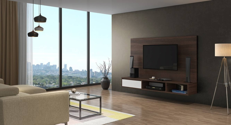 A floating console - wall mounted tv cabinet design ideas simple tv wall design electronic city bangalore