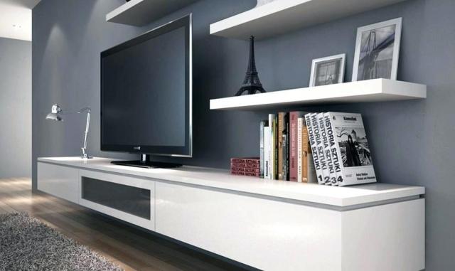 A Floating Tv Console Interior Era