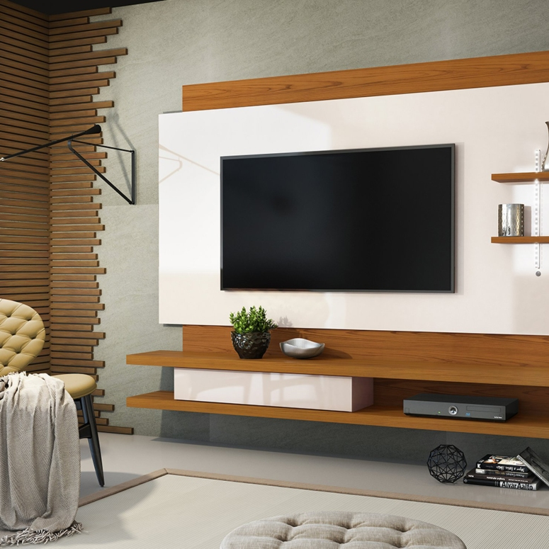 A floating TV console - Interior Era