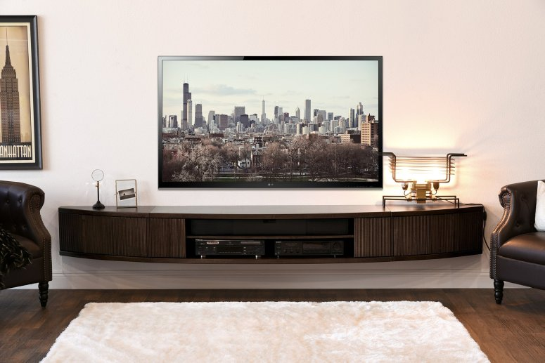A Floating Tv Console Interior Era