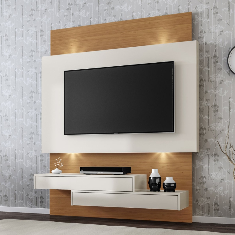 A floating TV unit - tv wall design wood tv cabinet design modern best interiors in electronic city bangalore