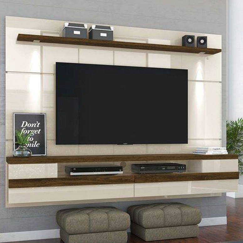 A floating TV unit - tv wall design wood TV unit manufactures in electronic city bangalore stylish TV unit
