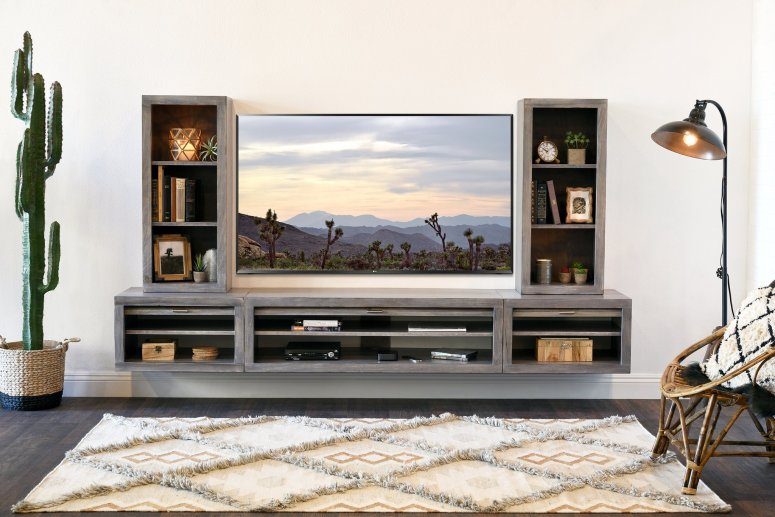A floating TV Unit - wall mounted tv cabinet design ideas simple tv wall design electronic city wipro gate