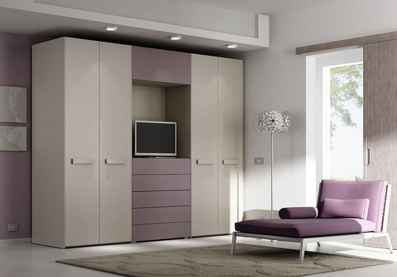 Wardrobe with TV Space - budget interior designers in bangalore best interior designers in bangalore reviews
