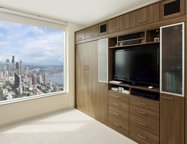 Wardrobe with TV Space cheap and best interior designers in bangalore budget interior designers in bangalore top 10 interior designers in bangalore