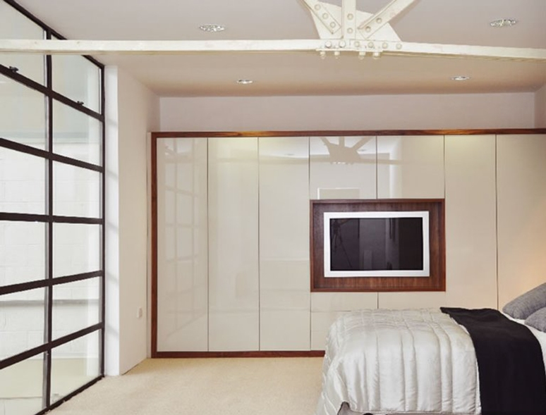 Wardrobe with TV Space - interior decor in electronic city bangalore budget interior designers in bangalore home interiors