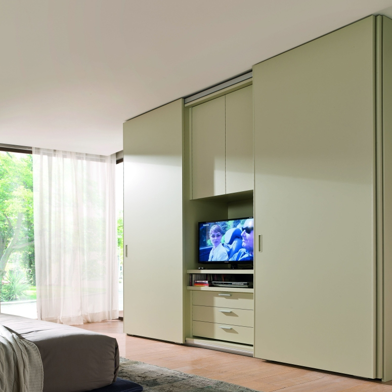 Wardrobe with TV Space - luxury interior designers in bangalore top interior designers in whitefield home interior