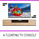 A Floating Console by Interior Era