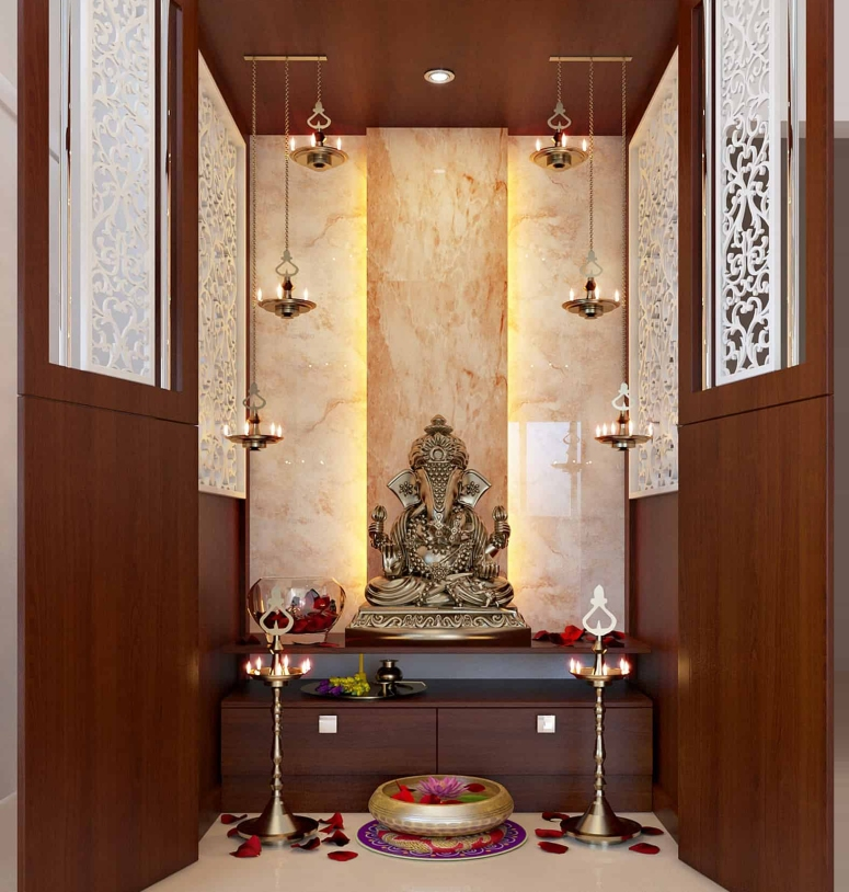 Pooja Room_4 Decorate pooja rooms best puja room designs best pooja room designs