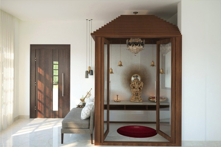 Pooja Room_5 puja room ideas in small flats simple design of pooja room within a house electronic city bengaluru