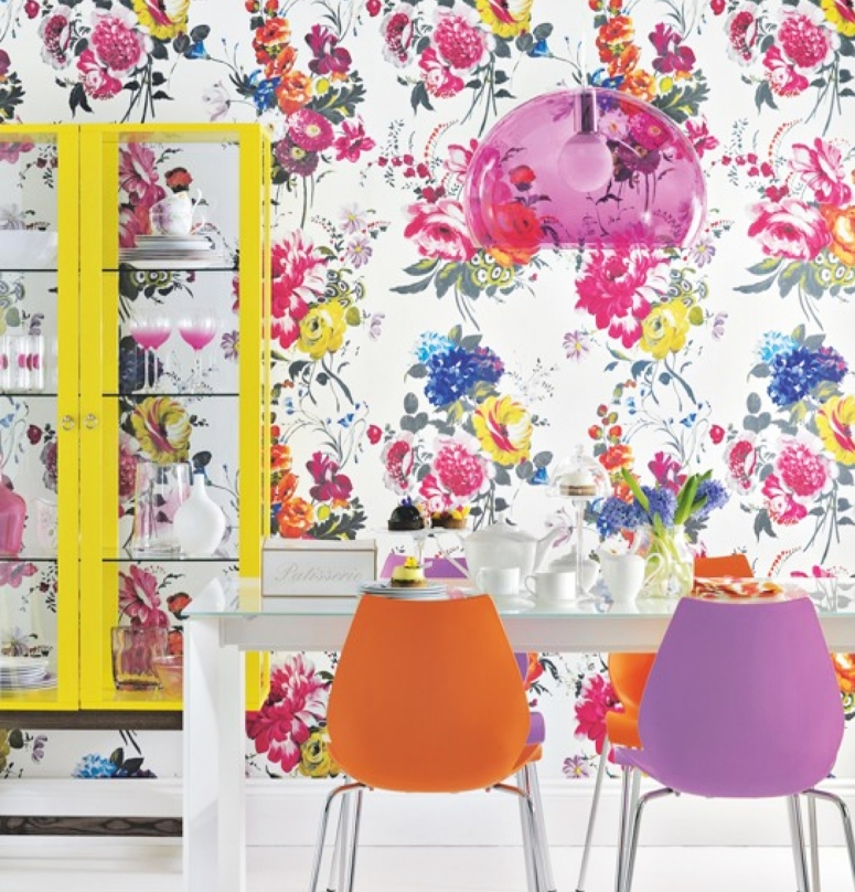 Bright color bright wallpaper Wallpaper for bedroom wallpaper designs for walls