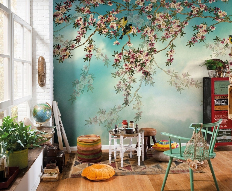Wallpaper tree wallpaper for living room and bedroom best interior work in electronic city bangalore