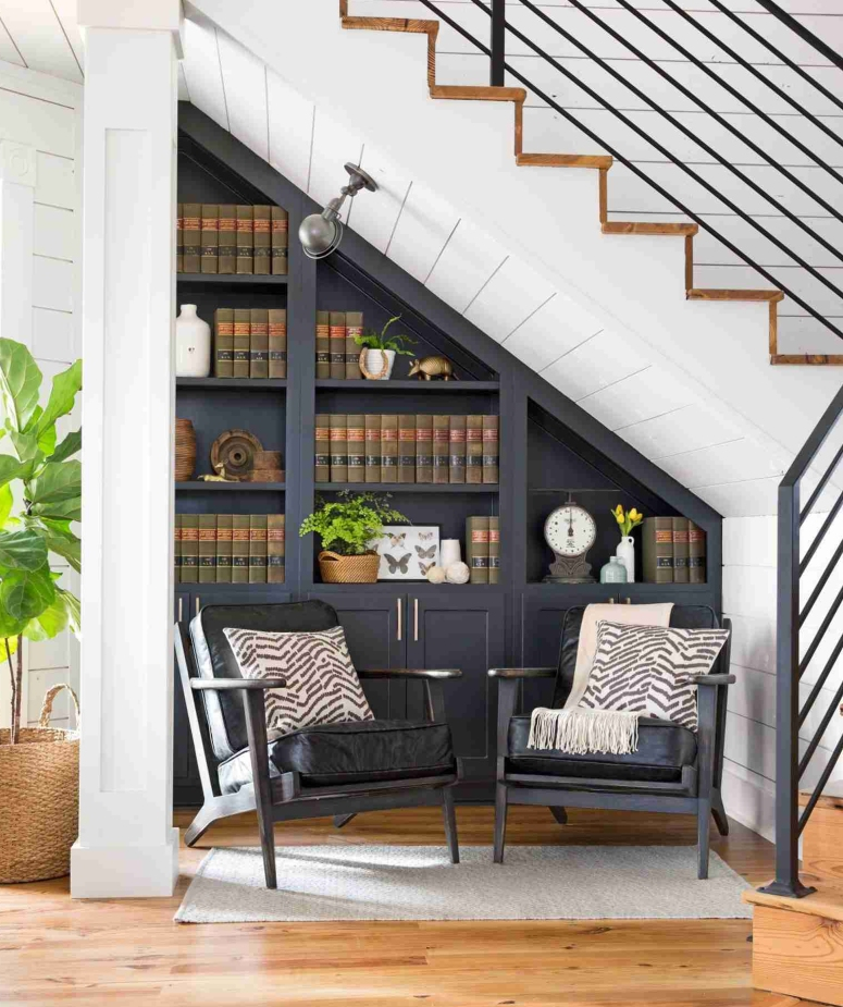 Under Stair Library bookcase ideas from interior era cheap and best interior designers in bangalore Architects & Interiors.jpg
