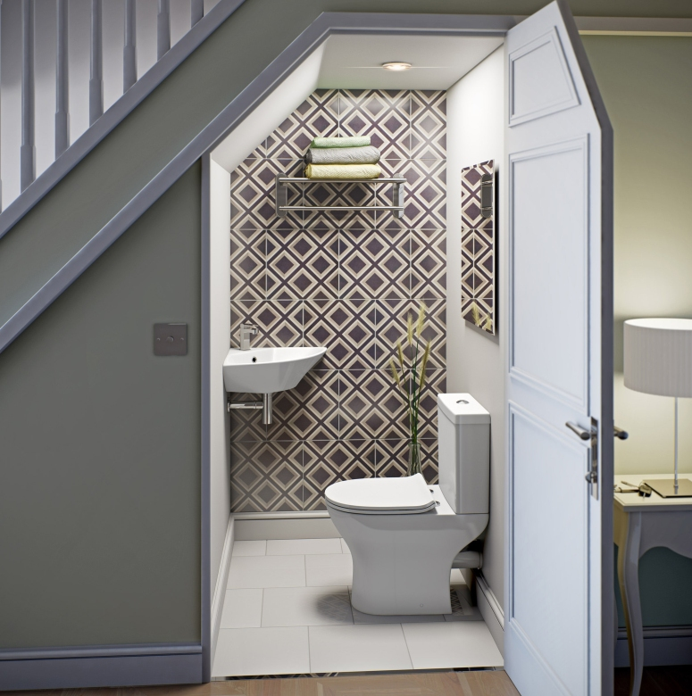 Under Stair Bathroom or Toilet or Rest Room best interior decorators in electronic city bangalore good interior designers
