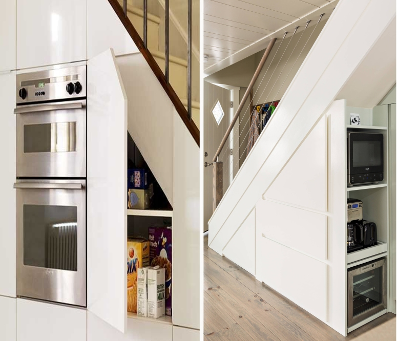Under Stair Kitchen Appliances storage good and best interior designers and decorators in electronic city bangalore