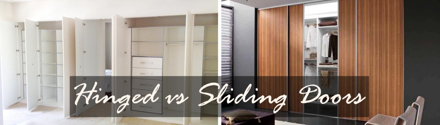 Difference between Hinged Door and Sliding Doors