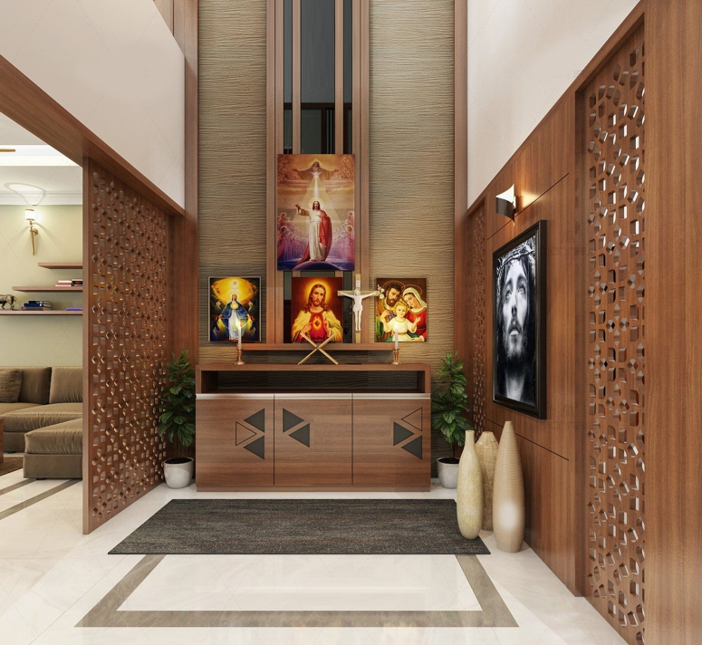 Christian Prayer Hall Unit by Interior Era catholic prayer room design