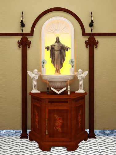 Catholic Prayer Unit Designs by Interior Era Electronic City Phase 1 Bangalore