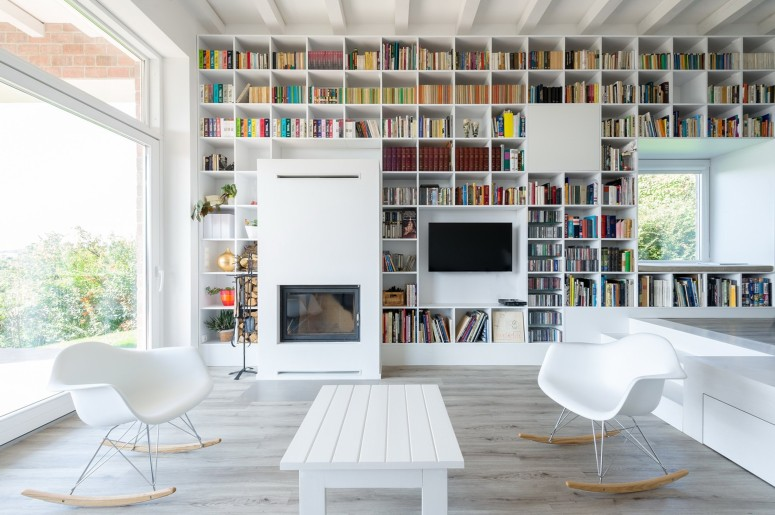 Home Library_home library shelving Creative Home Library Designs For a Unique Atmosphere book rack with doors Architects & Interior Designers Interior Architecture