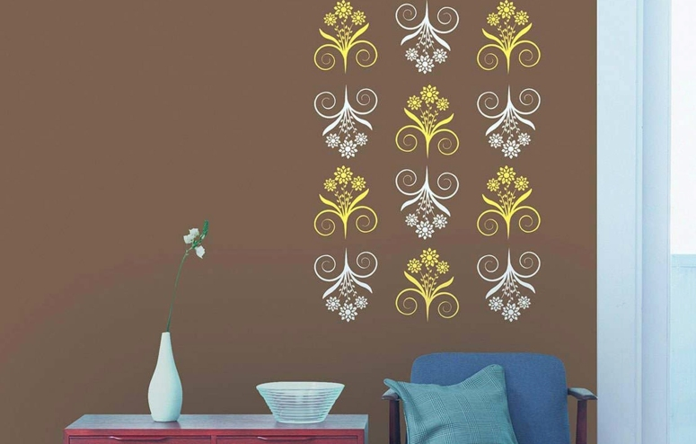 Painting and Decorating_royale play wall fashion stencils bedroom wall stencils design electronic city best interiors famous interior designers in bengaluru