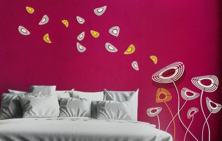 Painting and Decorating_stencil wall design wall stencils india wall stencils good interior architects in electronic city interiors in bengaluru