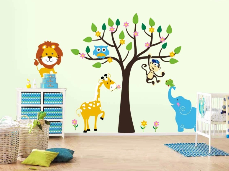 Stencil Painting_Best Professional stencil kids room wall painting service providers in Bangalore royal stencil design for kids room studio stencils for childrens room