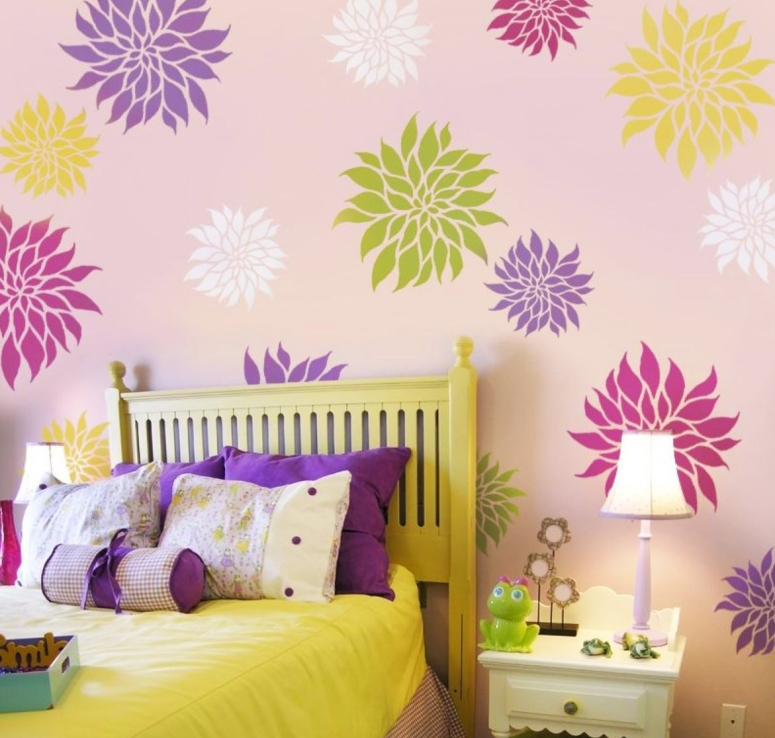 Stencil Painting_paint stencils for walls in india bedroom wall stencils design Stencil Painting Solution Home Stencil Painting Services list of interiors in electronic city