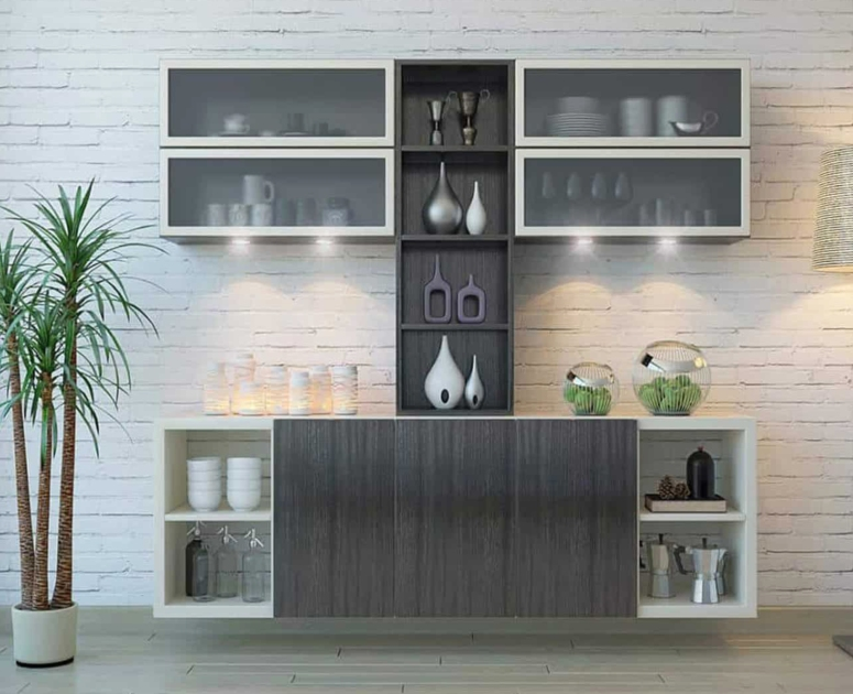Crockery Unit Design_Modern Crockery Dining Unit_Crockery Unit Design for Dining Area_Classy Crockery Cabinet Designs_good interior architects in electronic city