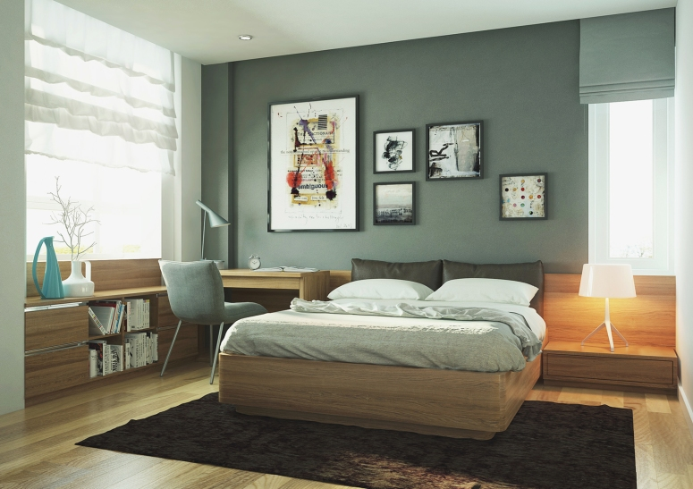 Bedroom Interior_Bedroom with Study Table_Bedroom with Study Table Attached_Small Bedroom with Study Table Attached_Best Interiors in Electronic City Bangalore