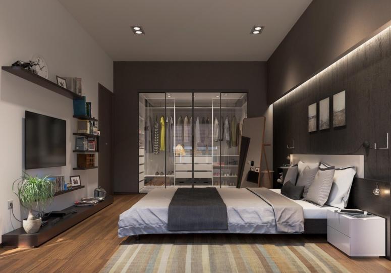 Bedroom Interior_Bedroom with Wardrobe_Bedroom Wardrobes_Walkin Wardrobe in Bedroom_Glass Wardrobes for Bedroom_Bedroom Design Ideas_Best Interiors in Electronic City_Good Interior Design