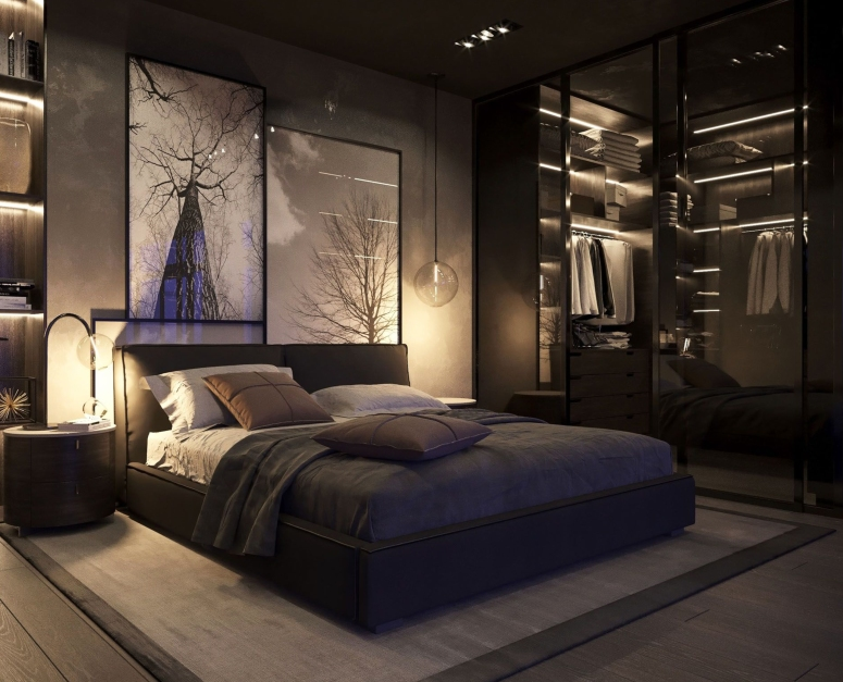Bedroom Interior_Black Theme Bedroom_Dark Color Bedroom_Bedroom Decorating Ideas_Large Bedroom Interior Design_Bedroom Design Ideas_Best Interiors in Electronic City_Good Interior
