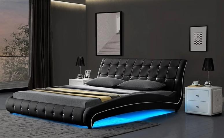 Bedroom Interior_LED Designs for Bedroom_Best LED Decoration for Bedroom_LED Lights for Bedroom_LED Strip Lights for Bedrooms_Electronic City Interiors