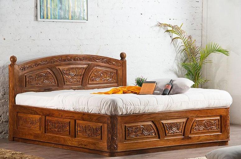 Bedroom Interior_Teak Wood Bedroom Interiors_Teak Wood Bed_Teak Wooden Cot_Teak Wood Furnitures for Bedrooms_Best Interior design for Home Interiors_Best Electronic City Interior Design