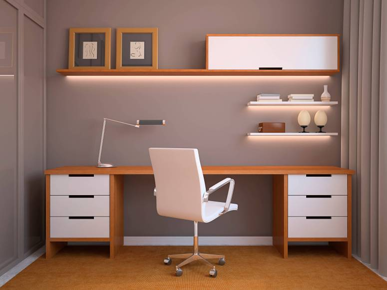Home Office Interiors_Home Office Interior Design and Decoration_Home Office furnitures_Home Office Chair and Desk_Interiors in Electronic City