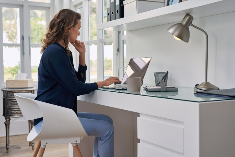 Home Office Interiors_Home Office Interior Design and Decoration_Home Office furnitures_Home Office Chair and Desk_Interiors in Electronic City_Good Interiors