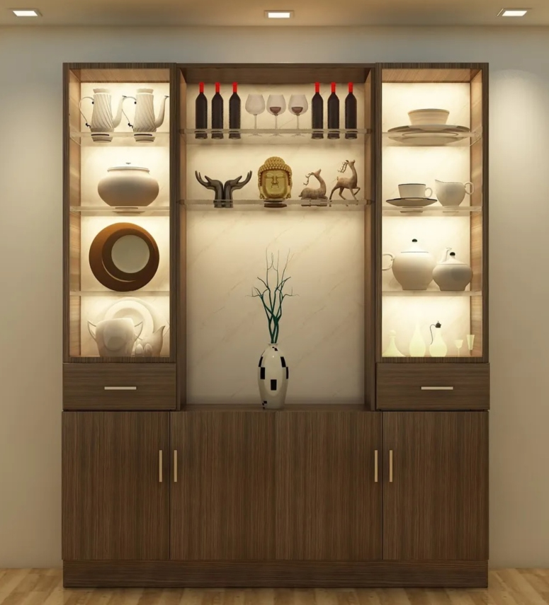 Crockery Unit Design_Latest Kitchen Crockery Unit_Modern Crockery Unit_Good Interiors in Electronic City Bangalore_Best Interior Decorators